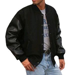 Wool & Leather Varsity Jacket